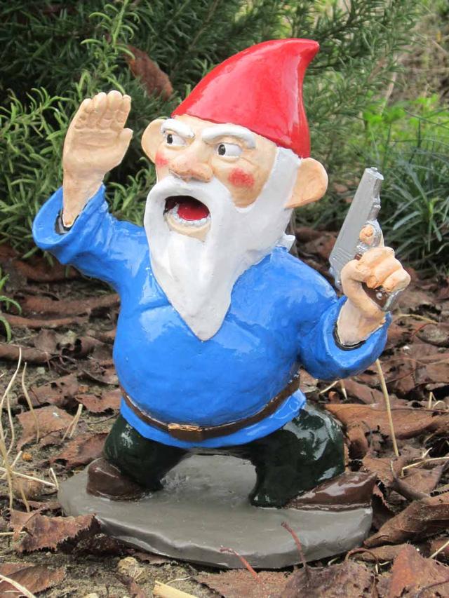 Gnome In Garden: More Combat Garden Gnomes