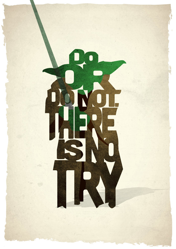 Typographic Star Wars Prints Featuring Iconic Characters