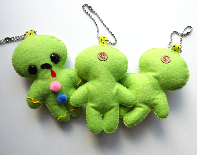 Zombreads (Zombie Gingerbread) Ornament/Keychain by Michelle Coffee