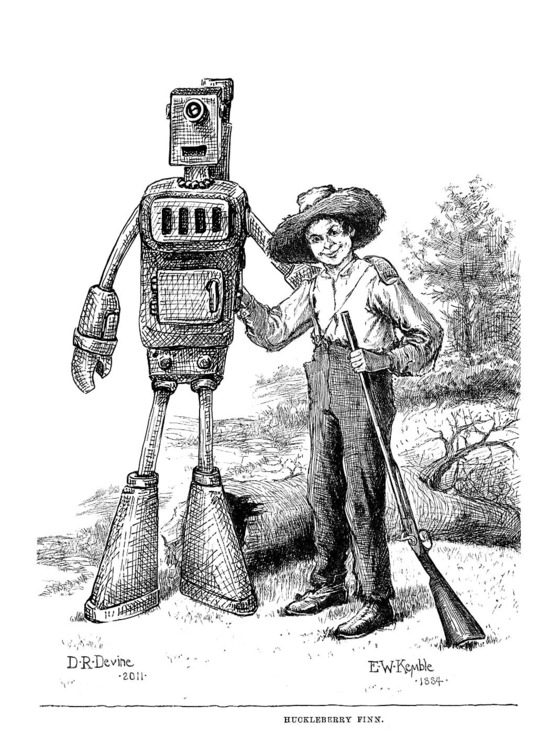 Adventures of Huckleberry Finn [Robotic Edition] by Gabriel Diani and Etta Devine