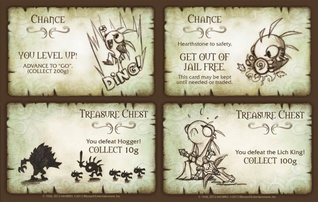 Monopoly World of Warcraft CE Cards 2