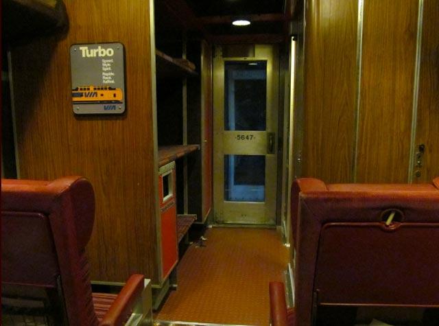 Basement train replica