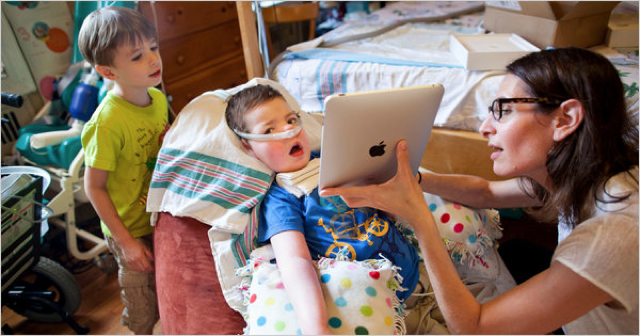 iPad Helps Nearly Paralyzed Boy