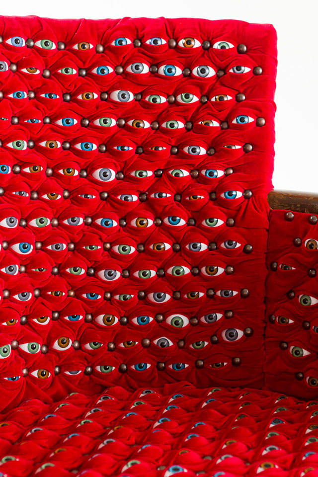 Scopophilia eyeball chair by Fiona Roberts