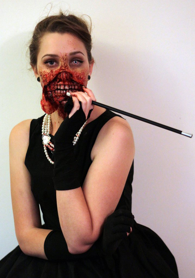 Zombie Audrey Hepburn Halloween Costume by Kiana Jones