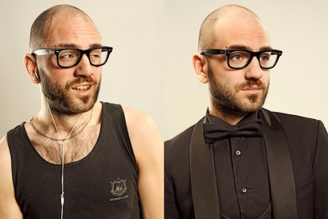 Before and After Photos of Joggers by Sacha Goldberger