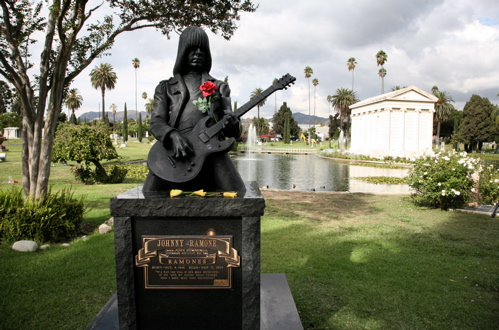 Johnny Ramone Memorial at Hollywood Forever Cemetery