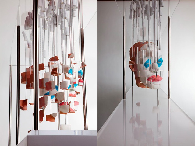 Distorted anamorphic sculptures by Jonty Hurwitz