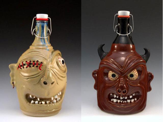 beer growlers by carlburg pottery