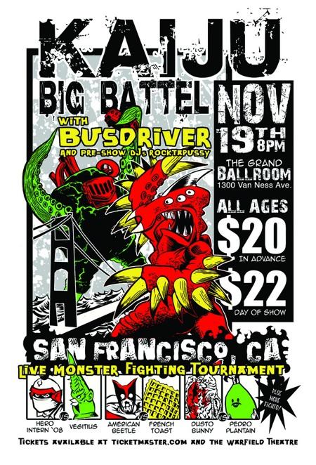 Kaiju Big Battel San Francisco