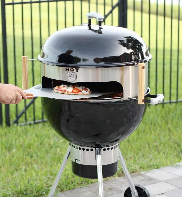 kettlepizza turns an ordinary kettle grill into an outdoor oven. Black Bedroom Furniture Sets. Home Design Ideas