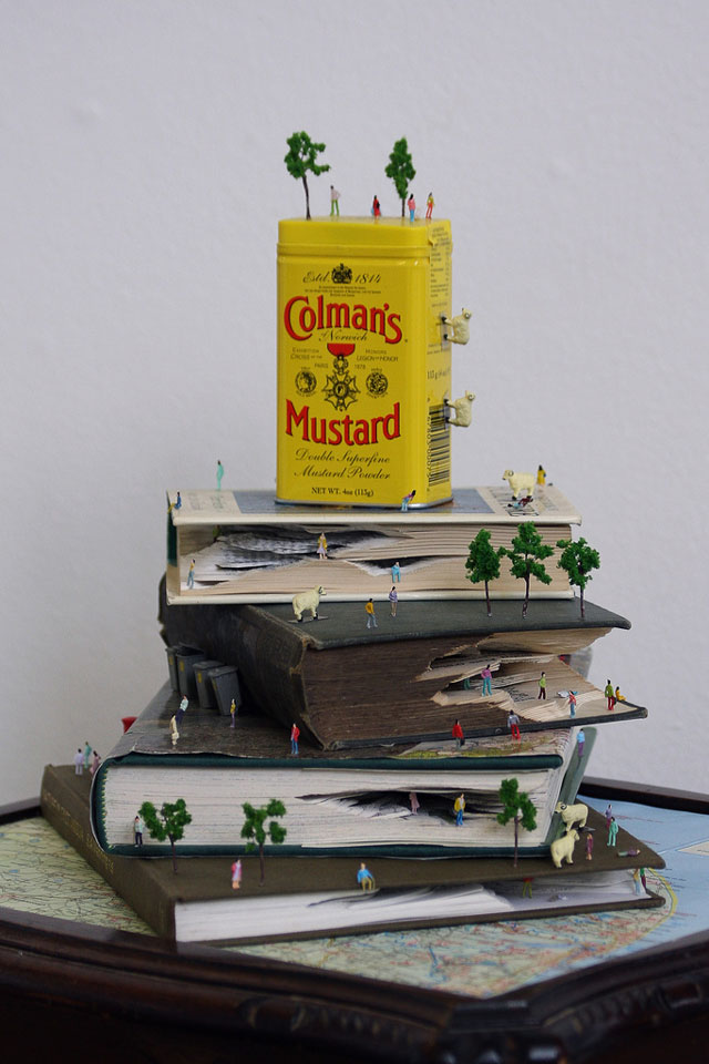 Book Landscape Sculptures by Kyle Kirkpatrick