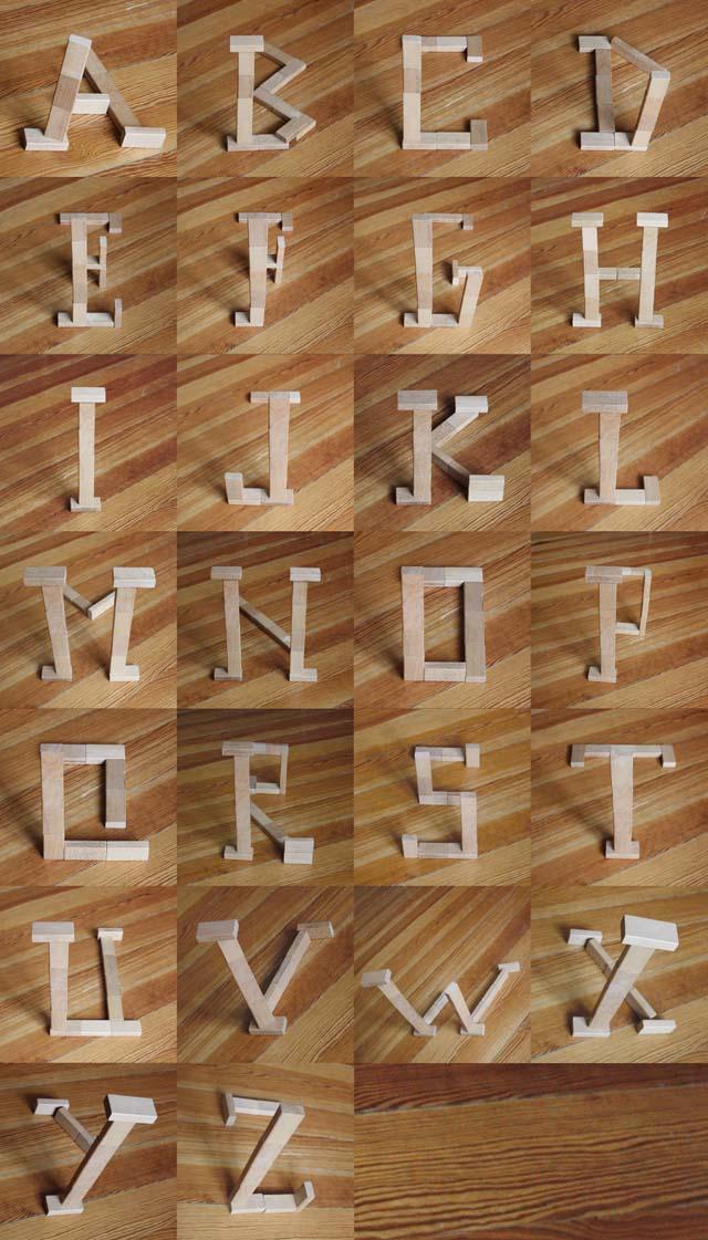 Block letters by Marc Böttler