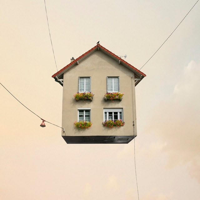 Flying Houses by Laurent Chehere