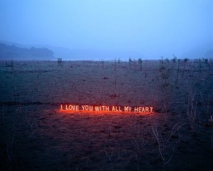 Glowing text art by Lee Jung