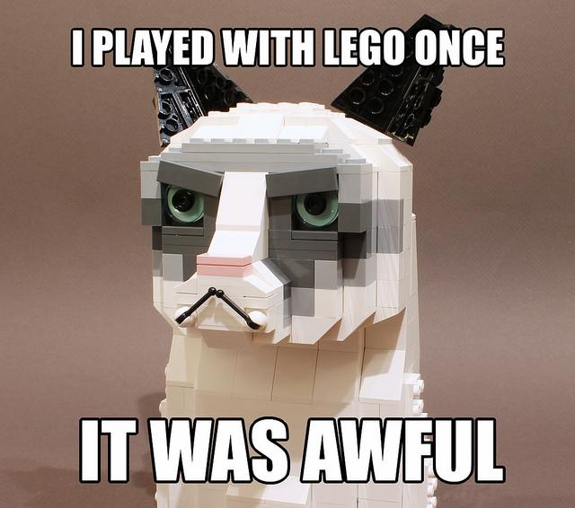 LEGO Tard the Grumpy Cat