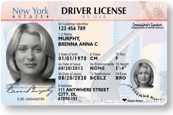 New york state to introduce laser engraved driver 39 s license for Wisconsin drivers license template
