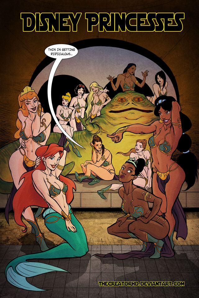 Disney Princesses in Jabba's Palace by Phillip Sevy