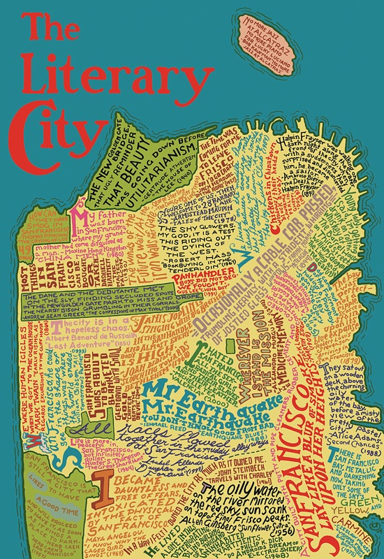Literary Map of San Francisco