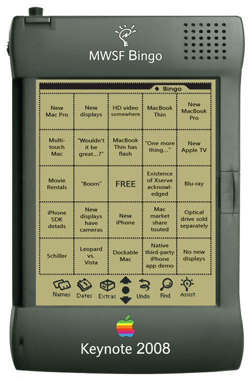 MWSF 2008 keynote bingo card