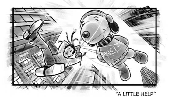 Macy's Parade movie storyboard: A little help?