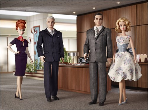 Mad Men Barbie & Ken Dolls