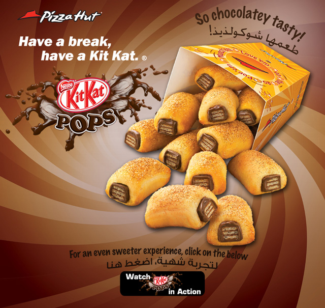 Pizza Hut Kit Kat Pops Candy Bars Wrapped In Sugared