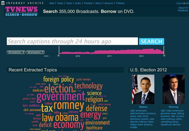 TV News Search and Borrow