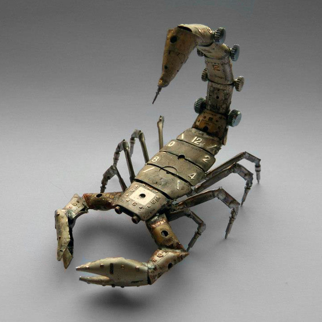 A Mechanical Scorpion Made Using Watch Parts