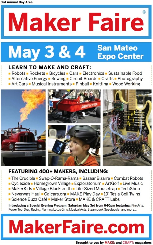 3rd Annual Maker Faire Bay Area May 3 4 In San Mateo