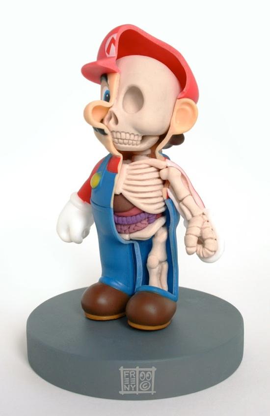 Mario Anatomical Sculpture