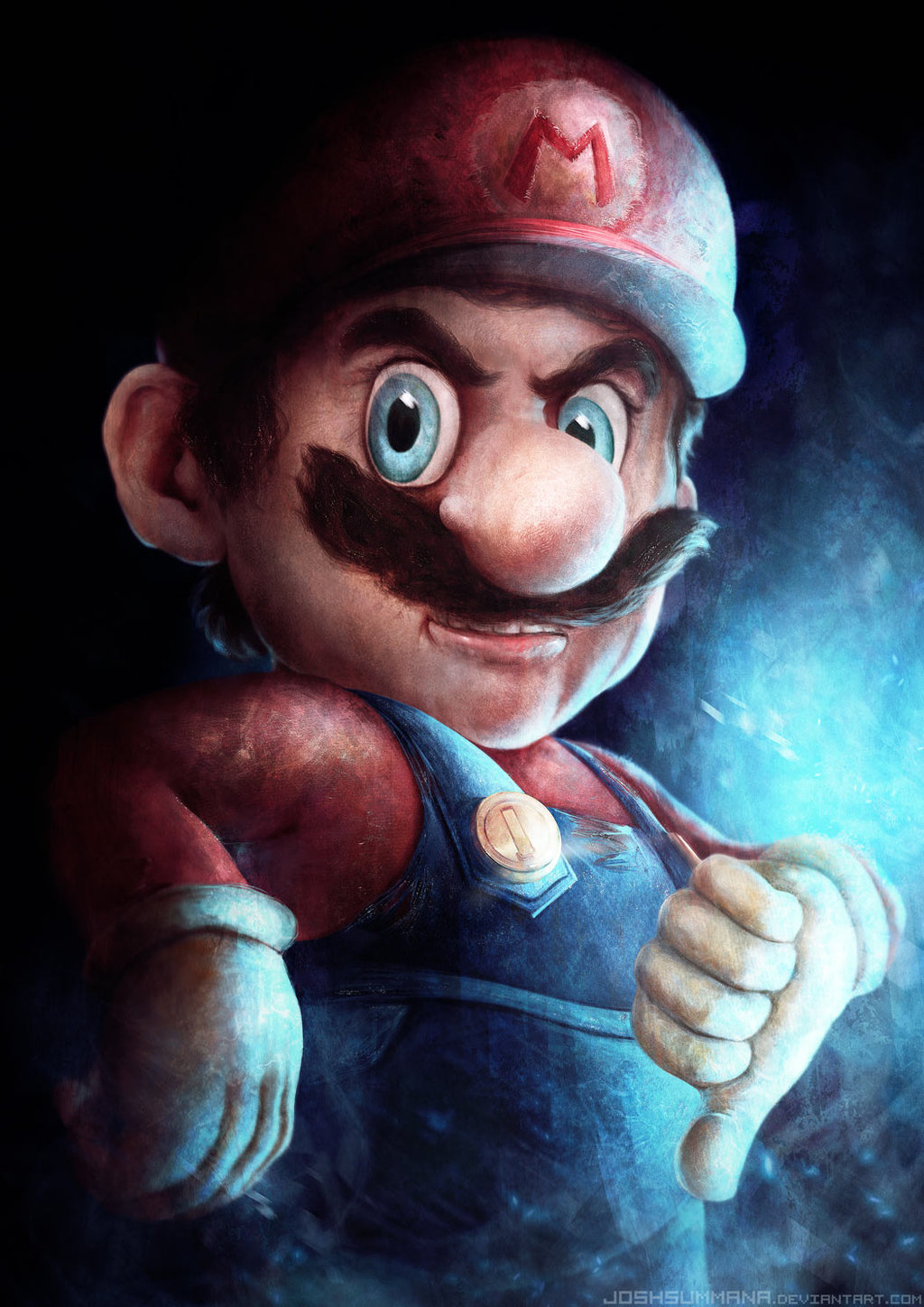 Mario and Sonic Face Their Evil Counterparts in Detailed Paintings