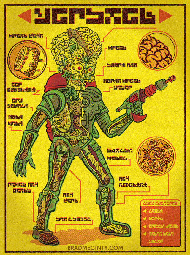 Anatomy Of A Martian by Brad McGinty