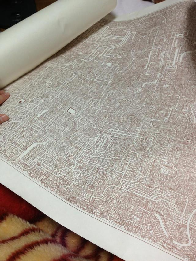 hand drawn maze that took 7 years to make
