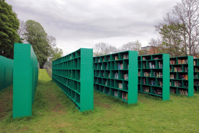 Open air vineyard library by Massimo Bartolini