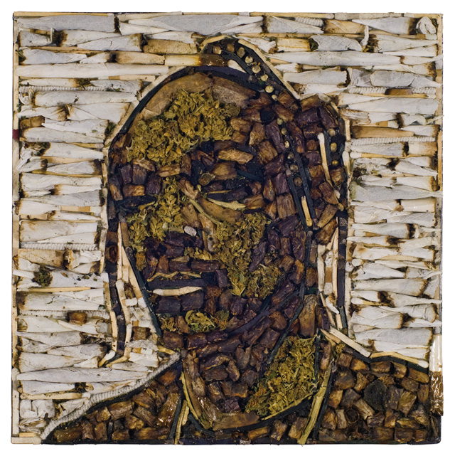 Snoop Dogg Mosaic Portrait Made Entirely Out of Marijuana and Hash