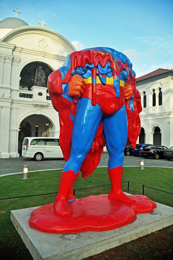 Melting Super Man Sculpture