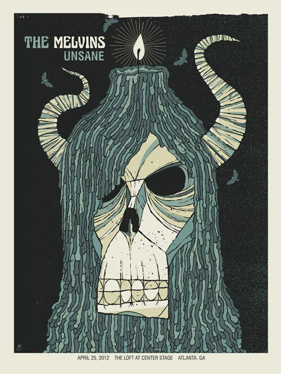 The Melvins / Unsane by Robert Lee of Methane Studios