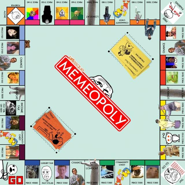Memeopoly An Internet Meme Version Of Monopoly