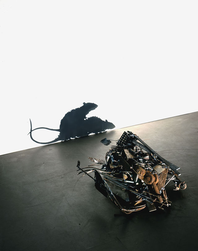 Shadow projection sculptures by Tim Noble and Sue Webster