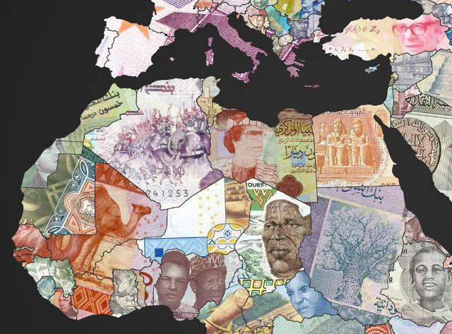 World map of banknotes featuring the currency of each country world map of banknotes gumiabroncs Choice Image