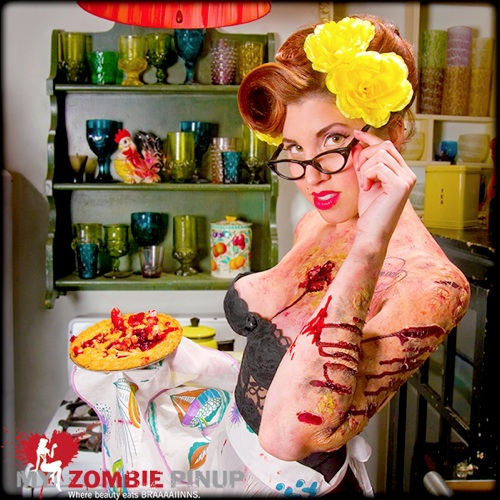 My Zombie Pinup is a tribute to classic pinup calendars with an undead twist