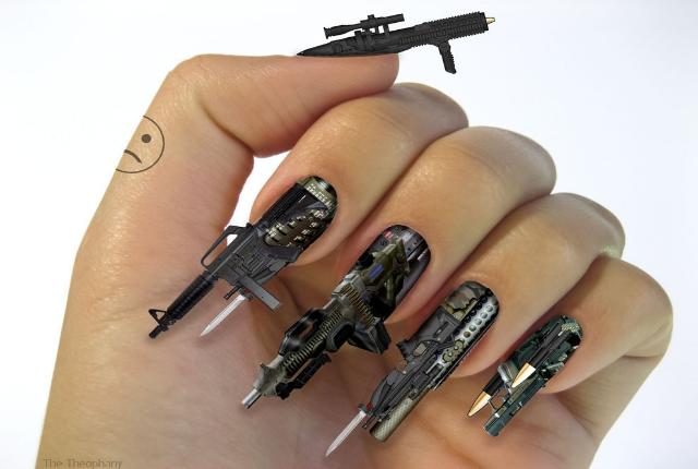 3d fingernail gun art prinsesfo Gallery