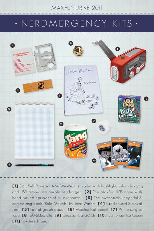 The Nerdmergency Kit from MaximumFun.org