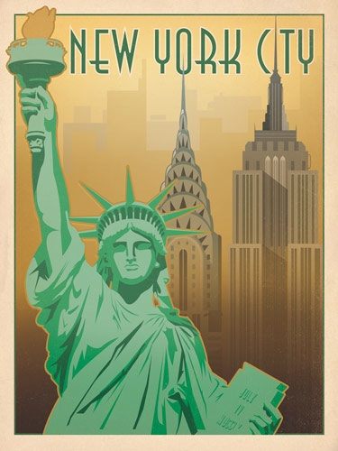 art soul of america a beautiful series of vintage travel poster of us cities by anderson design group