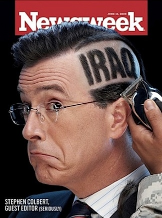 Colbert, apparently going to, or in, Iraq