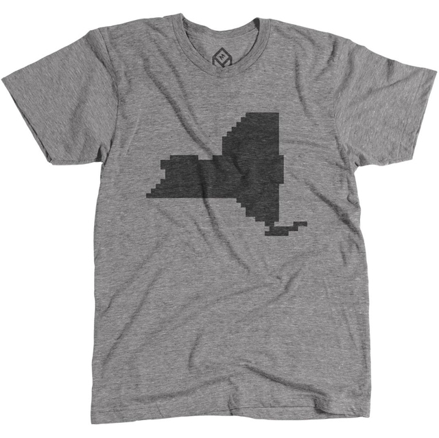 Pixelated New York State Shirt by Pixelivery
