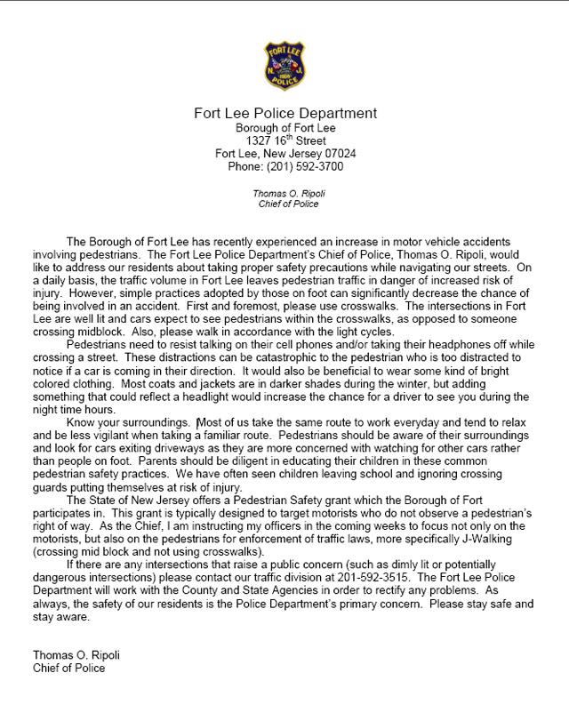 Fort Lee Notice