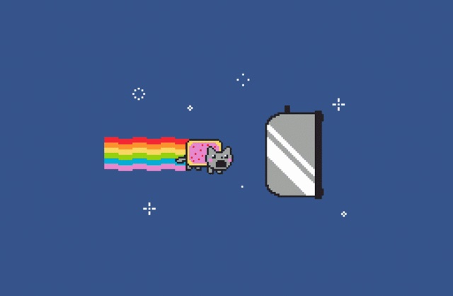 nyan cat toaster