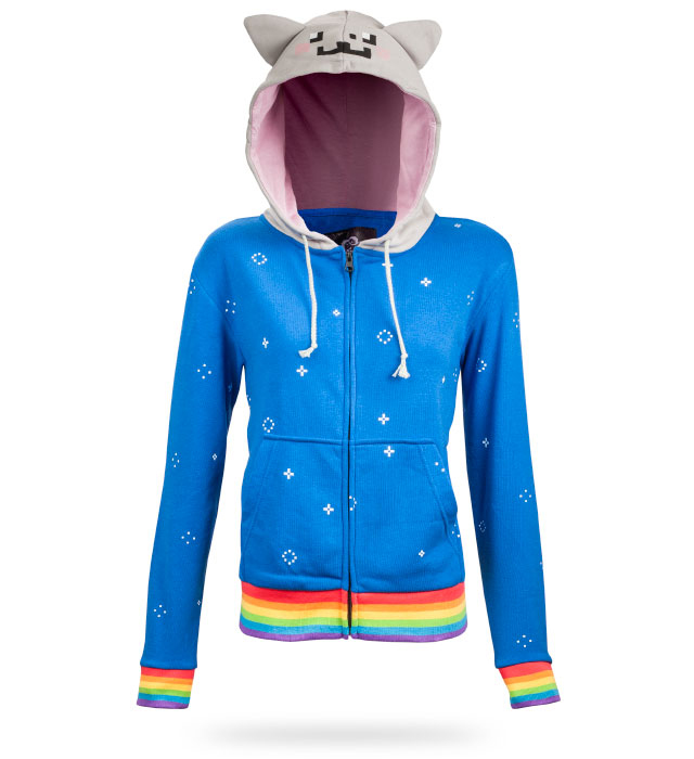 Nyan Cat Hoodie at ThinkGeek